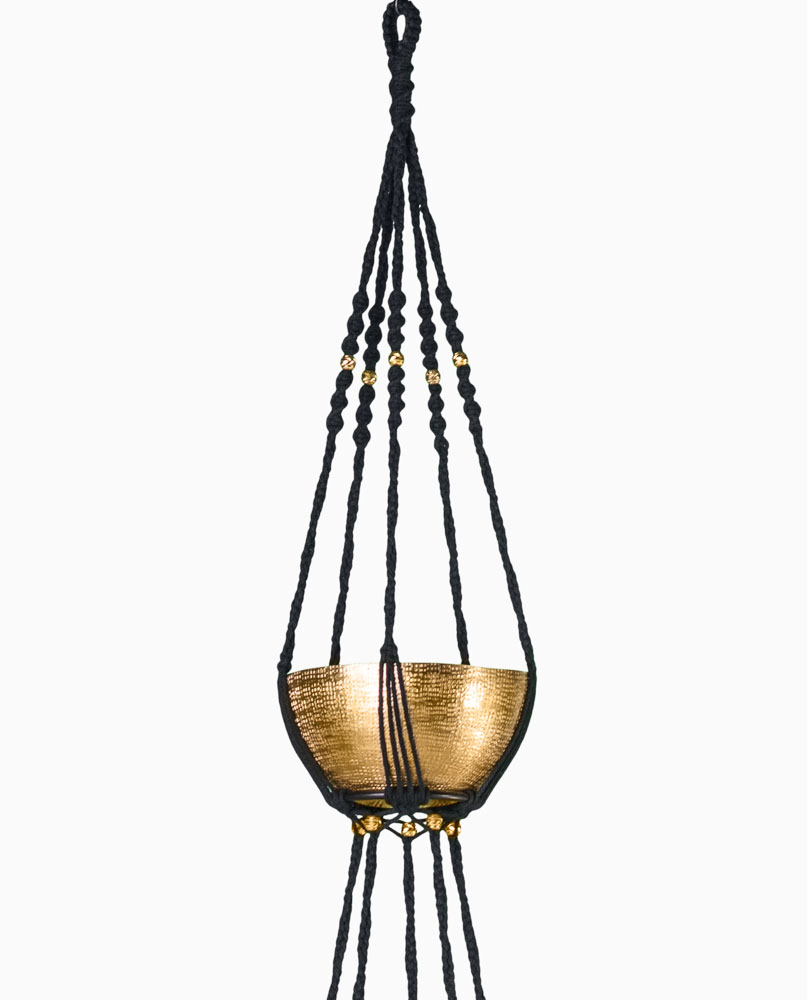 Suspension plantes macram 2 tages bymadjo ganesh d co - Faire macrame suspension ...