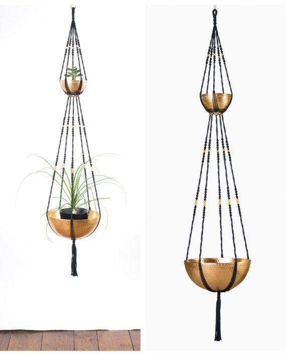 suspension plantes macram 2 tages bymadjo ganesh d co. Black Bedroom Furniture Sets. Home Design Ideas