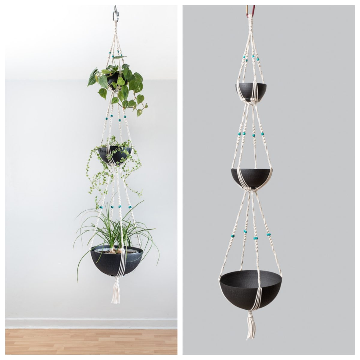 Suspension pour 3 plantes