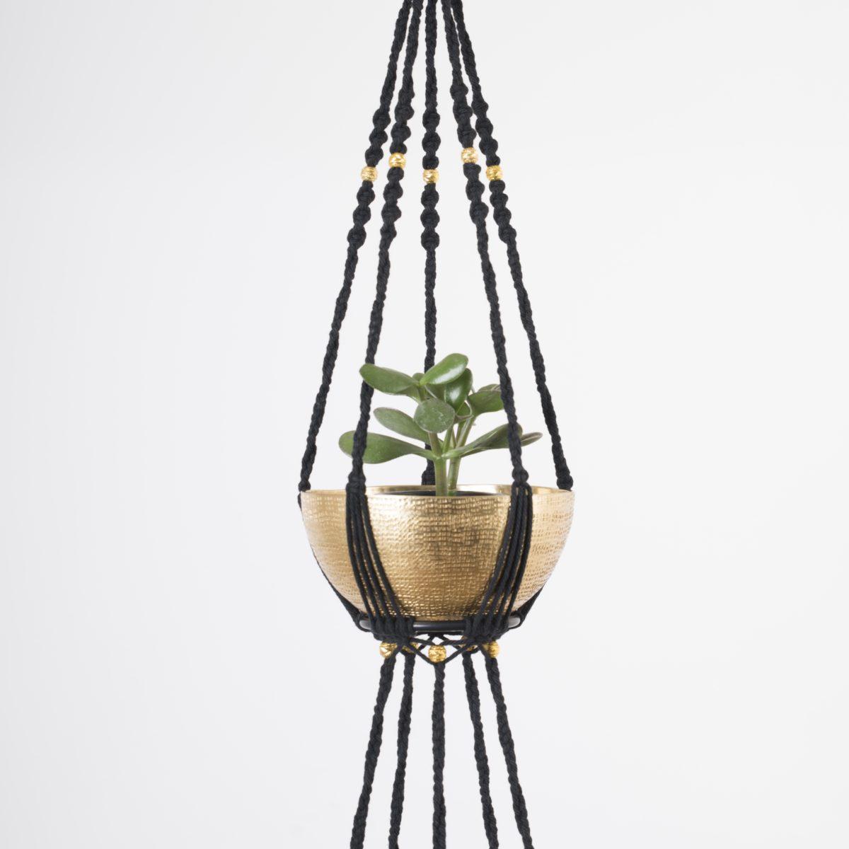 suspension plantes macramé 2 étages