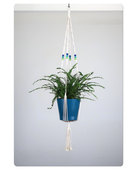 suspension pour plante en macram bymadjo allois d co. Black Bedroom Furniture Sets. Home Design Ideas