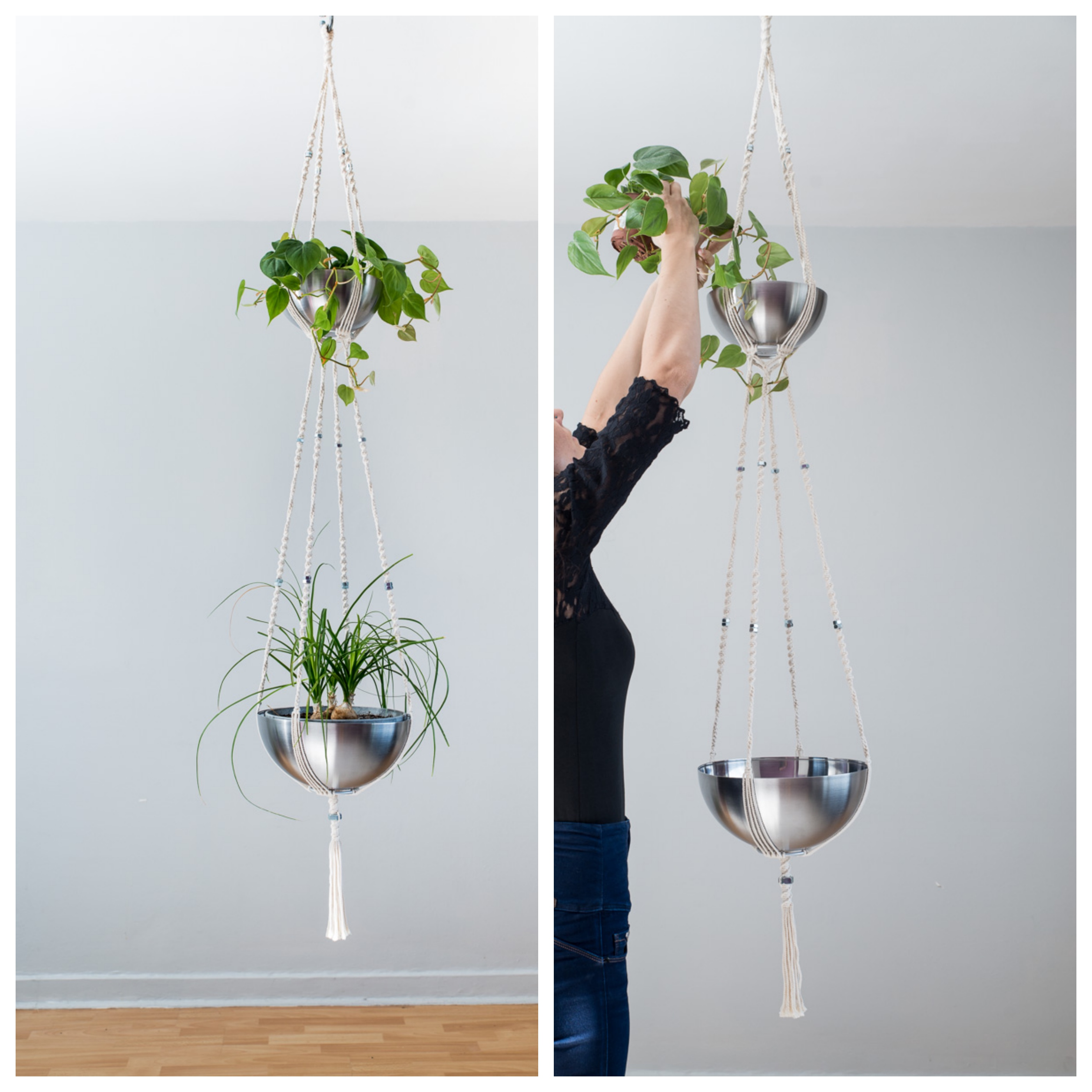 suspension pour plantes 2 tages bymadjo equinox d co. Black Bedroom Furniture Sets. Home Design Ideas