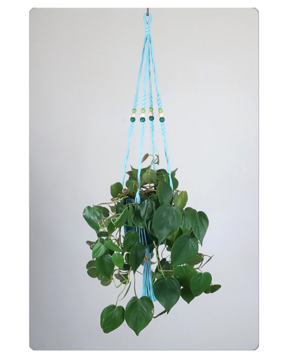 suspension macram pour plante bymadjo effy d co. Black Bedroom Furniture Sets. Home Design Ideas