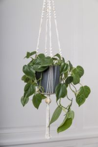 suspension en macrame