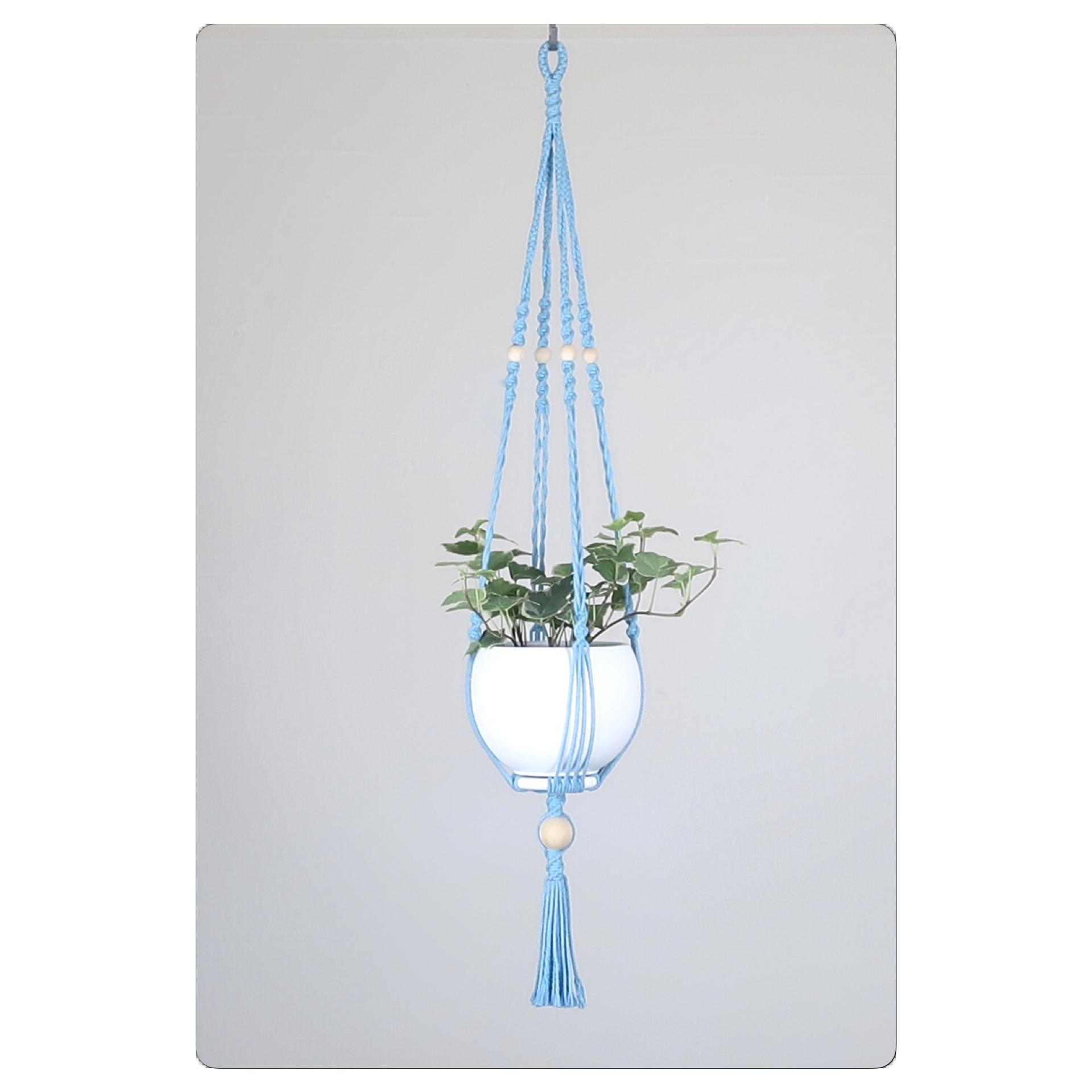 suspension macram pour plante bymadjo shou d co. Black Bedroom Furniture Sets. Home Design Ideas