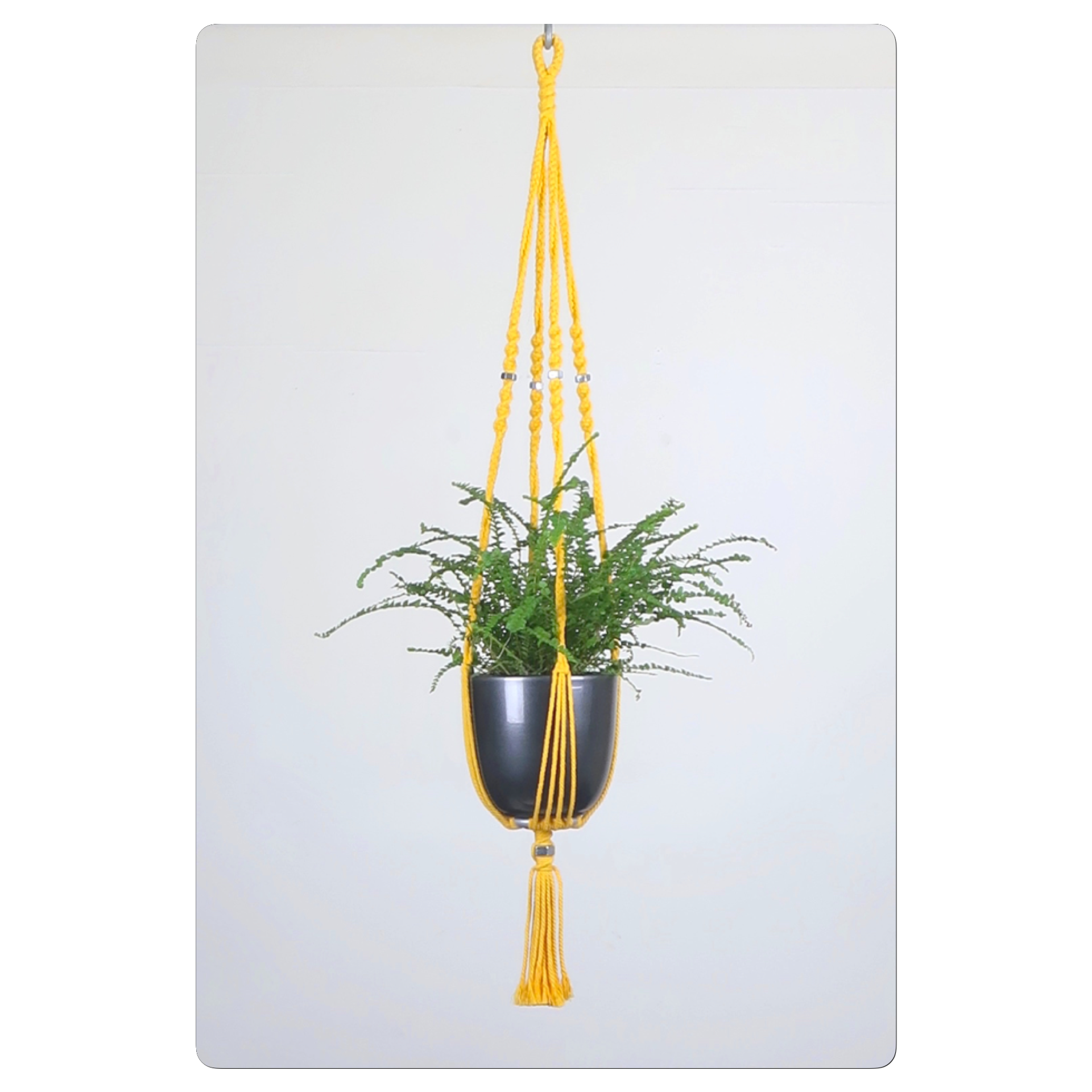 suspension pour plante en macram bymadjo inty d co. Black Bedroom Furniture Sets. Home Design Ideas