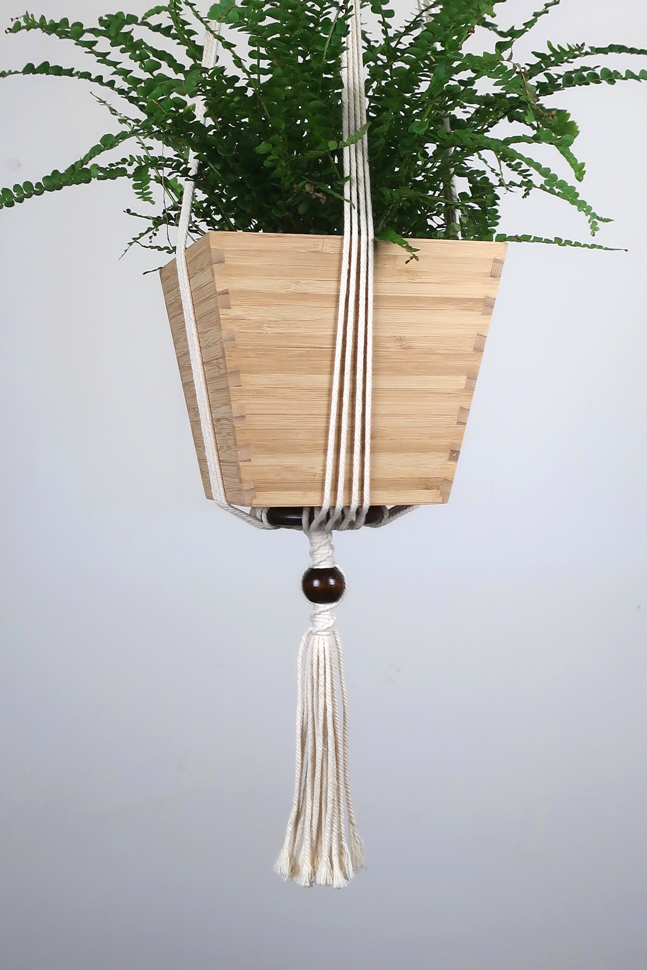 Suspension pour plante en macram bymadjo shanti d co - Faire macrame suspension ...